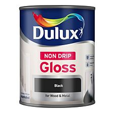 Dulux Non-Drip Gloss Paint – Black, 750ml