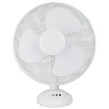 Status 12 Inch Oscillating Desk Fan - White