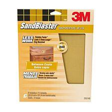 3M Sandblaster Fine 240 Grit Sandpaper – Pack of 3 Multi-Surface Sheets