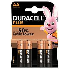 Duracell Plus Batteries AA 4 Pack