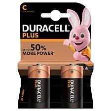 Duracell Plus Batteries C - 2 Pack