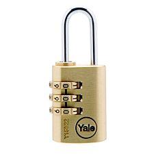 Yale Y150 30mm Brass Combination Padlock