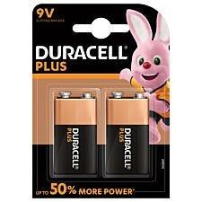Duracell Plus Batteries 9V - 2 Pack