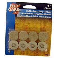 """Select Hardware Nail-in Felt Pads  25mm (1"""")  (8 Pack)"""