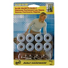 Select Hardware Slide Glide Screw In 25mm (8 Pack)