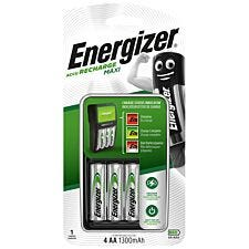 Energizer Maxi Charger with 1300mah AA Rechargeable Batteries - 4 Pack
