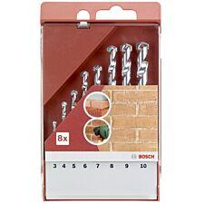 Bosch 8 Piece Masonry Drill Bit Set