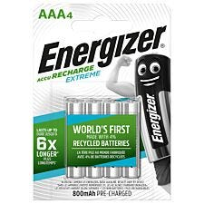 Energizer Accu Rechargeable Extreme Batteries AAA - Pack of 4