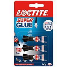 Loctite Super Glue Mini Trio - Pack of 3