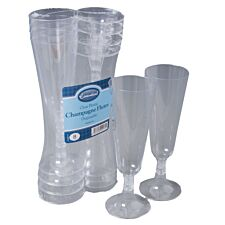 Essential Housewares Plastic Champagne Goblets Pack of 8