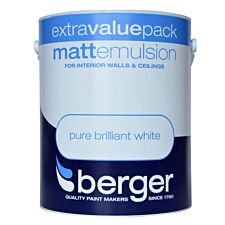 Berger Matt Emulsion – Brilliant White, 3L