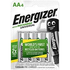 Energizer 1300 Rechargeable AA Battery - 4 Pack