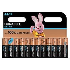 Duracell Ultra Power Batteries AA 12 pack