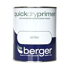 Berger Quick Dry Wood Primer – White, 750ml