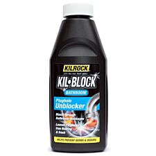 Kilrock Kil-Block Bathroom Plughole Unblocker - 500ml