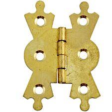 Select Hardware Fancy Hinge Brass 38mm (2 Pack)