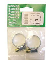 Select Hardware Hose Clips 16mm-27mm (2 Pack)