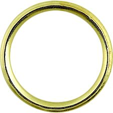Select Hardware Curtain Rings Split Electro Brass 25mm (5 Pack)