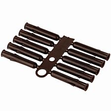 Select Hardware Wall Plugs Brown No10 - No12 (100 Pack)