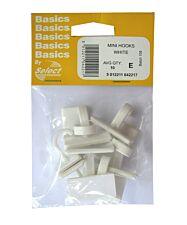 Select Hardware Adhesive Small Trim Hooks - White (10 Pack)