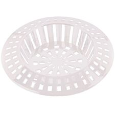 Select Hardware Plastic Sink Strainer – White