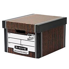 Fellowes Premium Classic cardboard Box-woodgrain 10pk