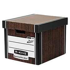 Fellowes Premium Tall Cardboard Box-woodgrain - 10pk