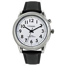 LifeMax RNIB Talking Atomic Watch - Silver with Black Strap