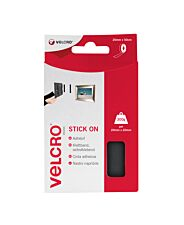 VELCRO Brand Stick On Tape 20mm X 50cm - Black