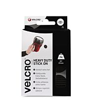 VELCRO Brand Heavy Duty Stick On Coins Black Sets - 45mm X 6mm