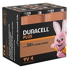 Duracell Plus Power 9V 4 Pack