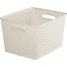 Curver Large Storage Basket - White