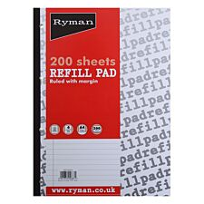 Ryman A4 Ruled Refill Pad – 200 Sheets