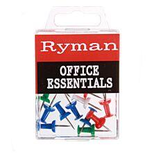 Ryman Assorted Push Pins – 25 Pack