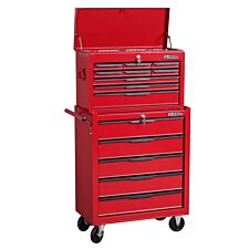 Hilka 14-Drawer Combination Chest and Cabinet