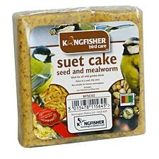 Kingfisher Suet Cake with Mealworm