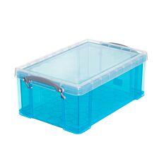 Really Useful 9L Plastic Storage Box - Bright Blue