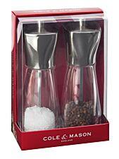 Cole & Mason Rye Stainless Steel Top Salt & Pepper Mills