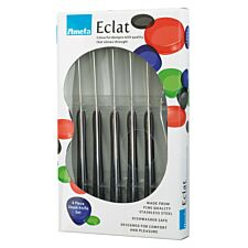 Eclat 6 Piece Black Steak Knife Set