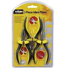 Rolson 3 Piece Mini Pliers Set