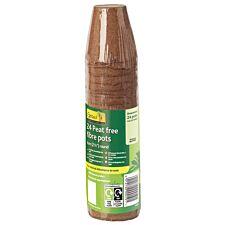 Gardman Peat-Free Fibre Pots - 24 Pack
