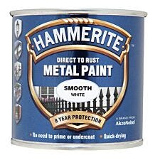 Hammerite Smooth White Paint - 250ml