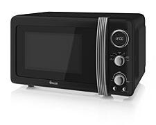 Swan Retro 800W 20L Digital Solo Microwave - Black