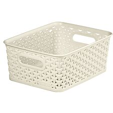 Curver Medium Storage Basket - White