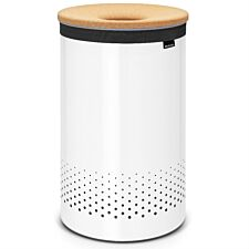 Brabantia 60L Laundry Bin with Cork Lid - White