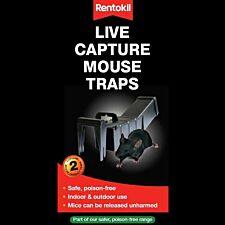 Rentokil Live Capture Mouse Trap – Twin Pack