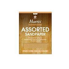 Harris Taskmasters Assorted Sandpaper - Pack of 5