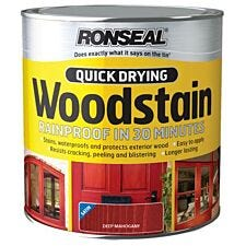 Ronseal Quick-Drying Woodstain  Deep Mahogany, 750ml
