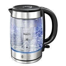 Russell Hobbs Purity Brita Water Filter Kettle with Blue Light Illumination