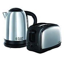Russell Hobbs 21830 Lincoln 1.7L Kettle and 2-Slice Toaster Set - Polished Stainless Steel